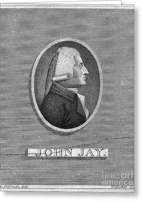 Chief Justice Greeting Cards - John Jay (1745-1829) Greeting Card by Granger