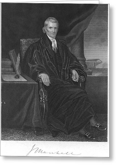 Chief Justice Photographs Greeting Cards - John Marshall (1755-1835) Greeting Card by Granger