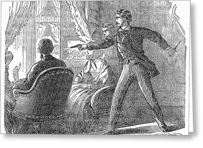 Republican Greeting Cards - Lincoln: Assassination Greeting Card by Granger