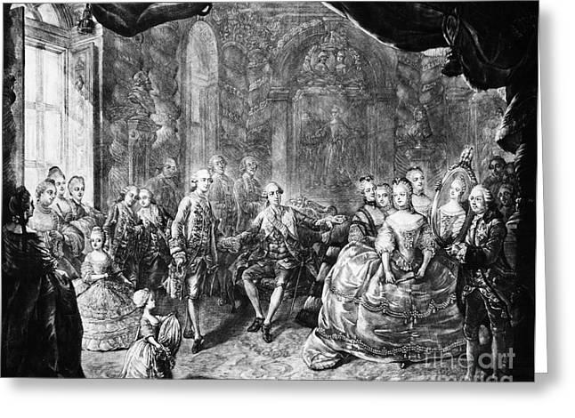 Betrothal Greeting Cards - Louis Xvi (1754-1793) Greeting Card by Granger
