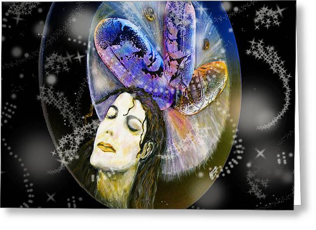 Constellations Greeting Cards - Michael Jackson Greeting Card by Augusta Stylianou