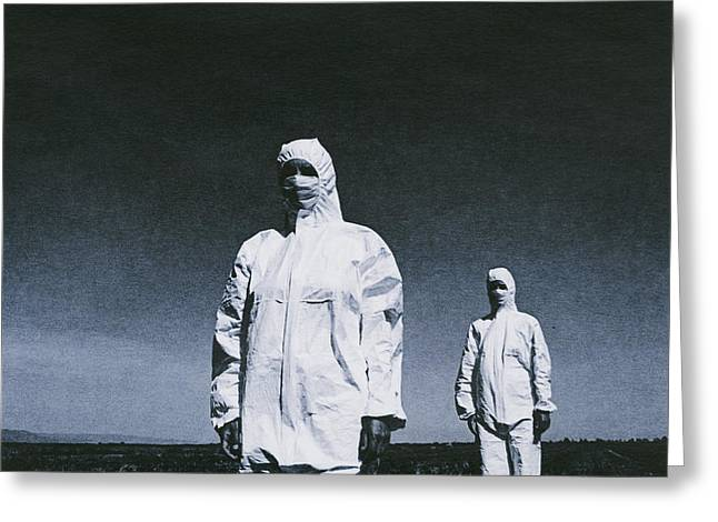 Protesters Greeting Cards - Protective Clothing Greeting Card by Cristina Pedrazzini