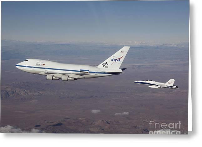 Fa-18 Greeting Cards - Sofia Flying Observatory Greeting Card by NASA/Science Source