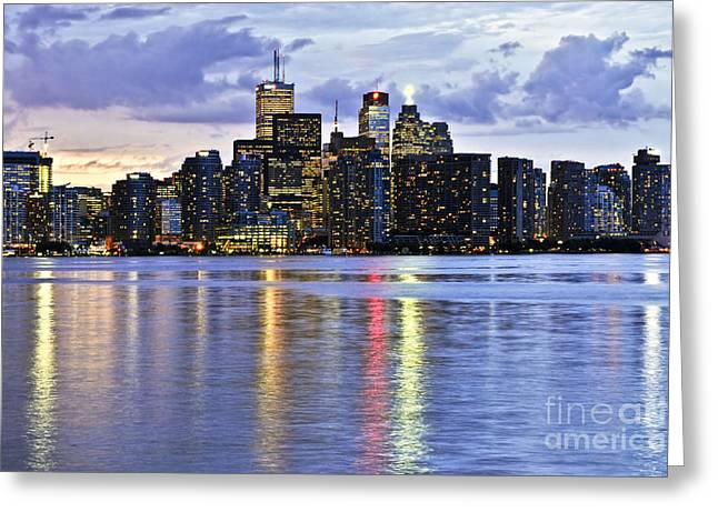 Toronto Skyline Greeting Card by Elena Elisseeva