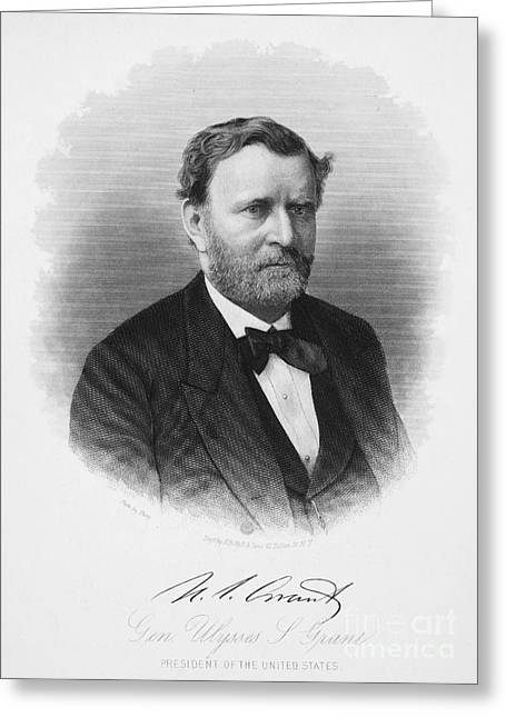 Autograph Greeting Cards - Ulysses S. Grant (1822-1885) Greeting Card by Granger