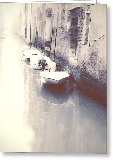Old Boat Greeting Cards - Venezia Greeting Card by Joana Kruse