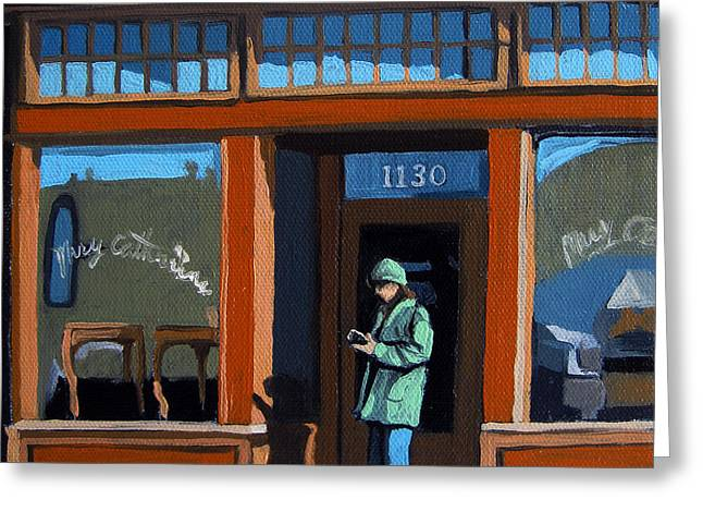 1130 High St. Greeting Card by Linda Apple