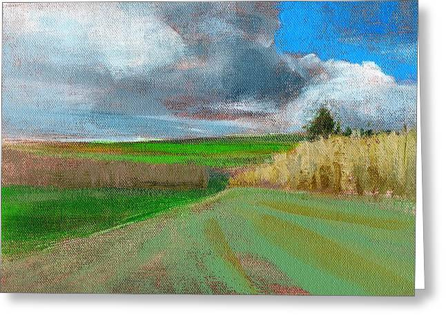 Storm Clouds Paintings Greeting Cards - RCNpaintings.com Greeting Card by Chris N Rohrbach
