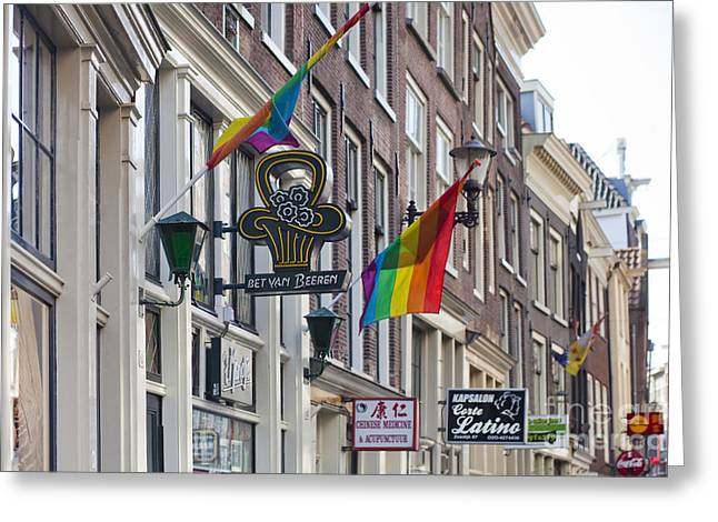 Gabled Greeting Cards - Amsterdam Greeting Card by Andre Goncalves