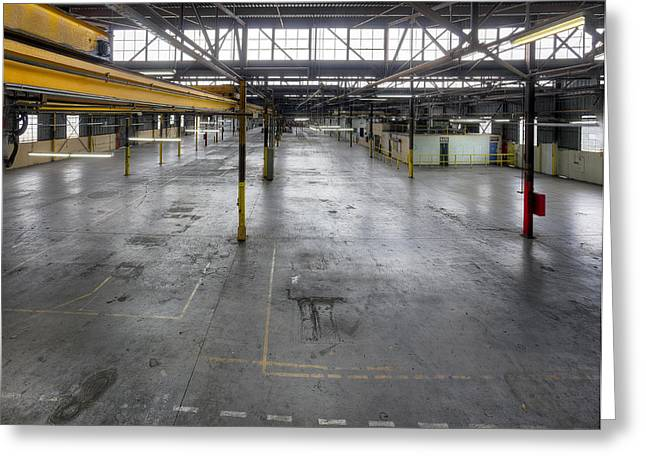 An Empty Industrial Building In Los Greeting Card by Dan Kaufman