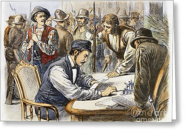 Striker Greeting Cards - Great Railroad Strike, 1877 Greeting Card by Granger