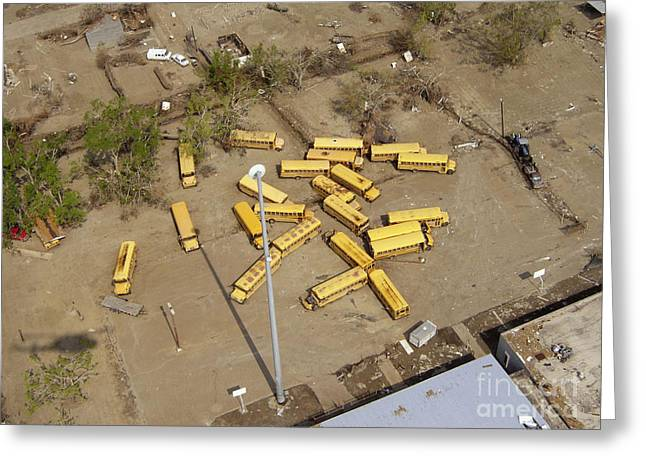 Slidell Greeting Cards - Hurricane Katrina Damage Greeting Card by Science Source