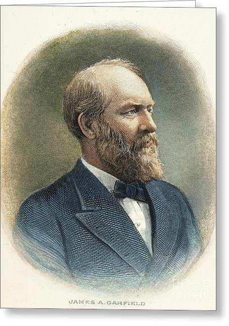 1880s Greeting Cards - James A. Garfield (1831-1881) Greeting Card by Granger