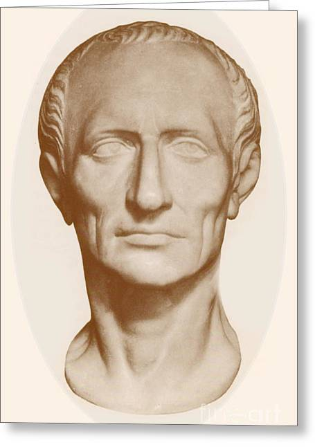 Dictator Greeting Cards - Julius Caesar, Roman General Greeting Card by Photo Researchers