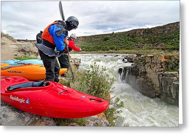 Current Control Greeting Cards - Kayaking Greeting Card by Elijah Weber