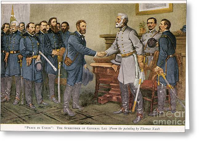Recently Sold -  - Nast Greeting Cards - Lees Surrender 1865 Greeting Card by Granger