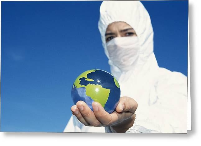 Terrorism Greeting Cards - Protective Clothing Greeting Card by Cristina Pedrazzini