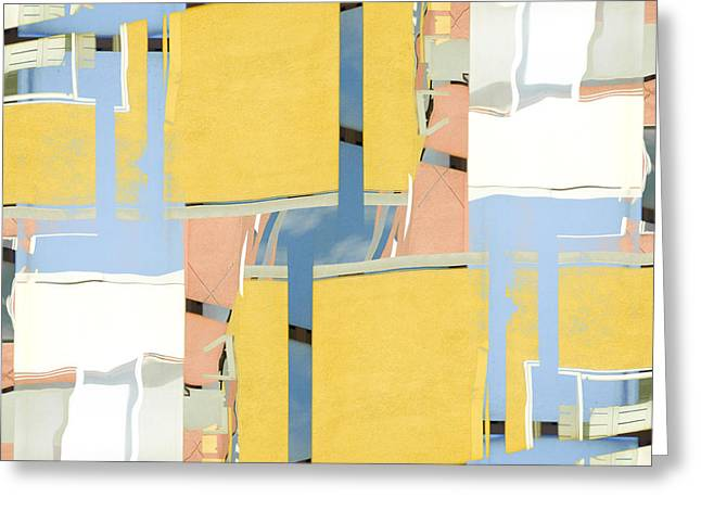 Rectangles Greeting Cards - Urban Abstract San Diego Greeting Card by Carol Leigh