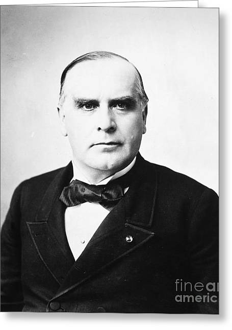 Bowtie Greeting Cards - WILLIAM McKINLEY (1843-1901) Greeting Card by Granger