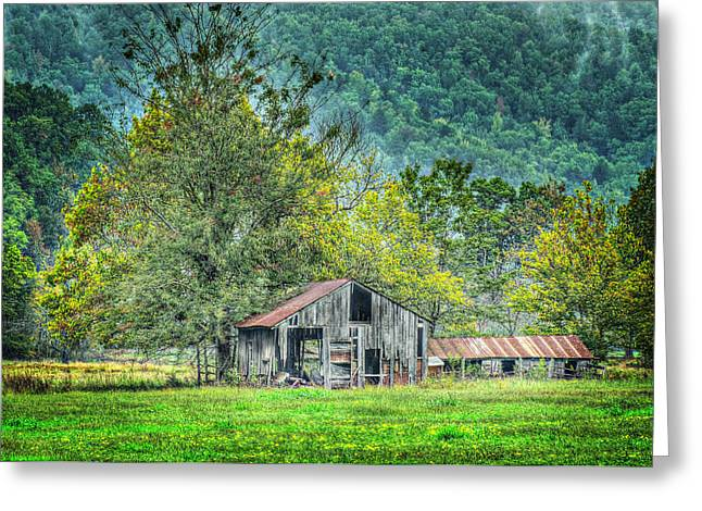 1209-1298 - Boxley Valley Barn 2 Greeting Card by Randy Forrester