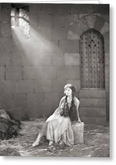 Dungeons Greeting Cards - Silent Film Still: Woman Greeting Card by Granger