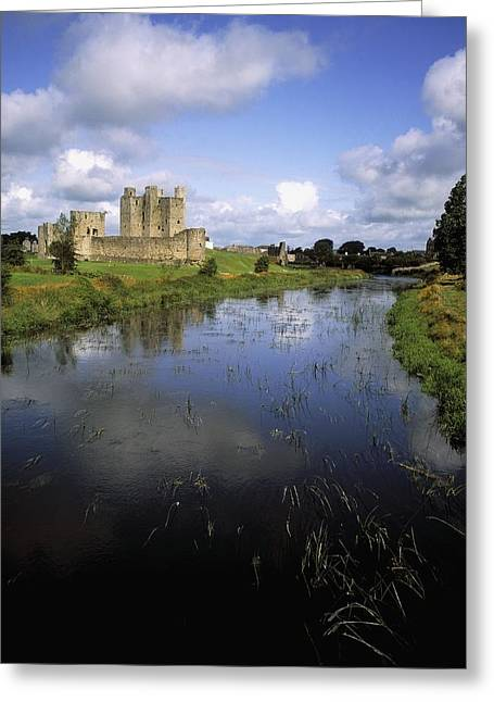 1100s Greeting Cards - 12th Century Trim Castle, On The River Greeting Card by The Irish Image Collection