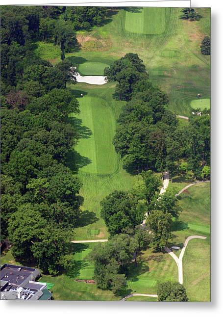 Plymouth Meeting Aerials Greeting Cards - 12th Hole Sunnybrook Golf Club 398 Stenton Avenue Plymouth Meeting PA 19462 1243 Greeting Card by Duncan Pearson