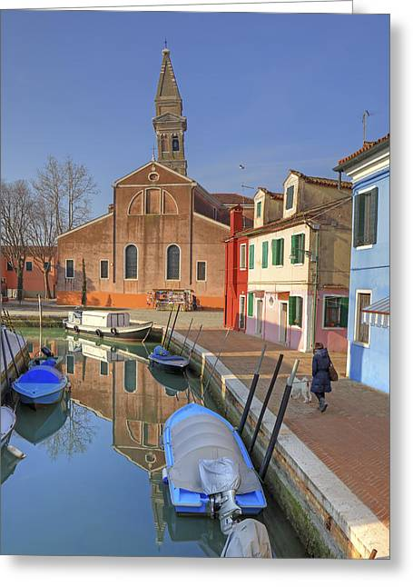 Incline Greeting Cards - Burano Greeting Card by Joana Kruse