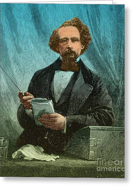 Famous Person Greeting Cards - Charles Dickens, English Author Greeting Card by Photo Researchers