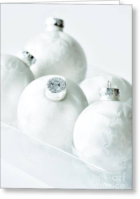 Glass Ball Greeting Cards - Christmas Ornaments Greeting Card by HD Connelly