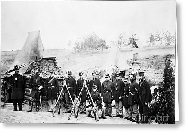 Bayonet Greeting Cards - Civil War: Soldiers Greeting Card by Granger