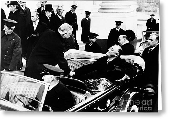 American Automobiles Greeting Cards - Franklin D. Roosevelt Greeting Card by Granger