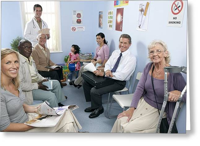 80s Greeting Cards - General Practice Waiting Room Greeting Card by Adam Gault