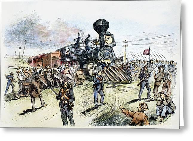 Bayonet Greeting Cards - Great Railroad Strike, 1877 Greeting Card by Granger