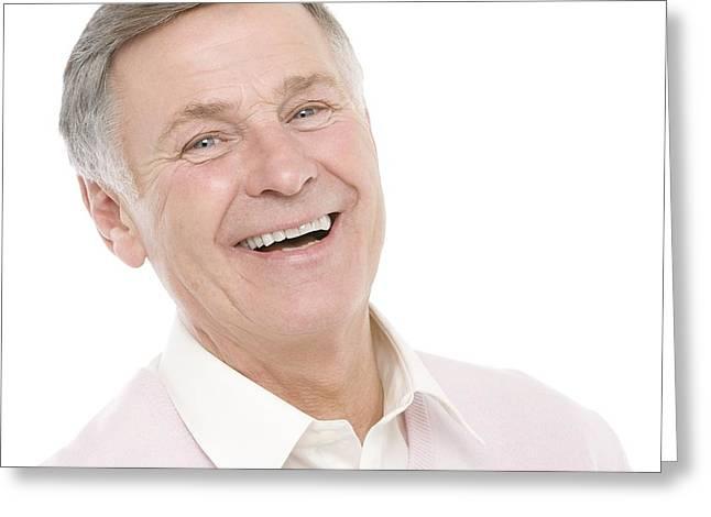 Happy Senior Man Greeting Card by