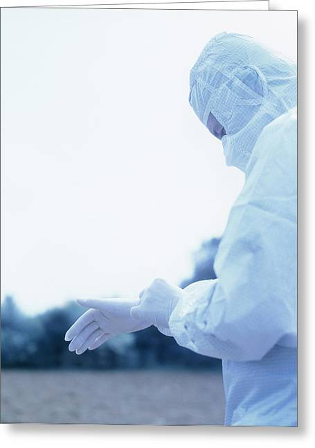 Industrial Concept Greeting Cards - Protective Clothing Greeting Card by Cristina Pedrazzini