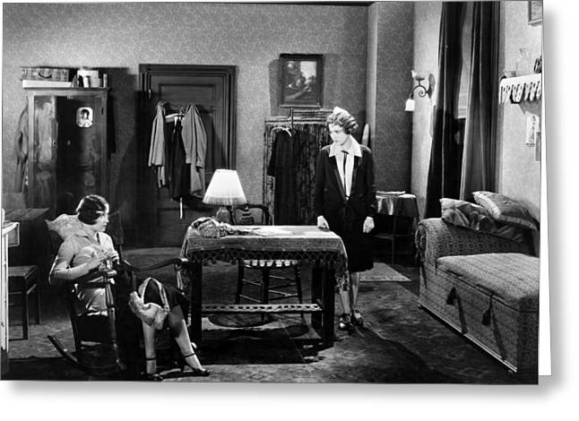 Dressing Room Greeting Cards - Silent Film Still: Women Greeting Card by Granger