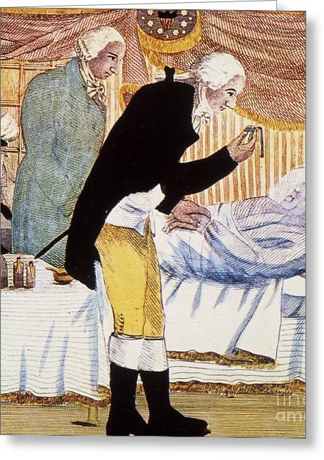 Lady Washington Greeting Cards - George Washington Greeting Card by Granger