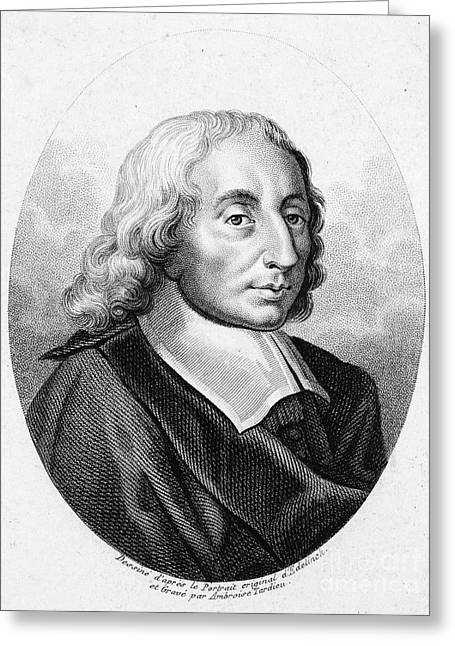 Oval Photographs Greeting Cards - Blaise Pascal (1623-1662) Greeting Card by Granger