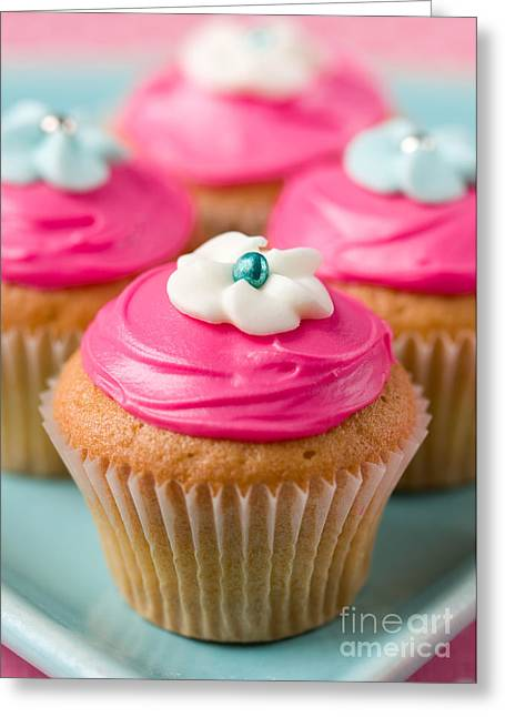 Tea Party Greeting Cards - Cupcakes Greeting Card by Ruth Black