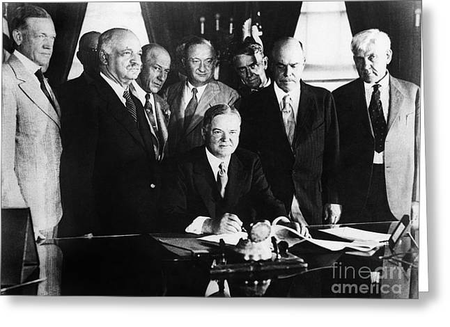 Oval Office Greeting Cards - Herbert Hoover (1874-1964) Greeting Card by Granger