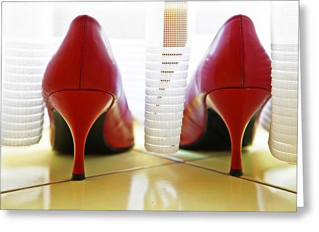 Sexy Shoes Greeting Cards - Pumps Greeting Card by Joana Kruse