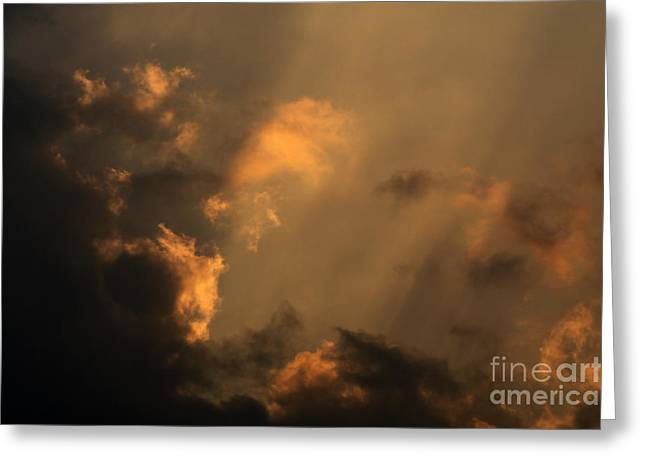 Evening Scenes Pyrography Greeting Cards - Sky Greeting Card by Odon Czintos