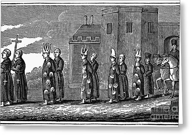 Cassocks Greeting Cards - Spanish Inquisition Greeting Card by Granger
