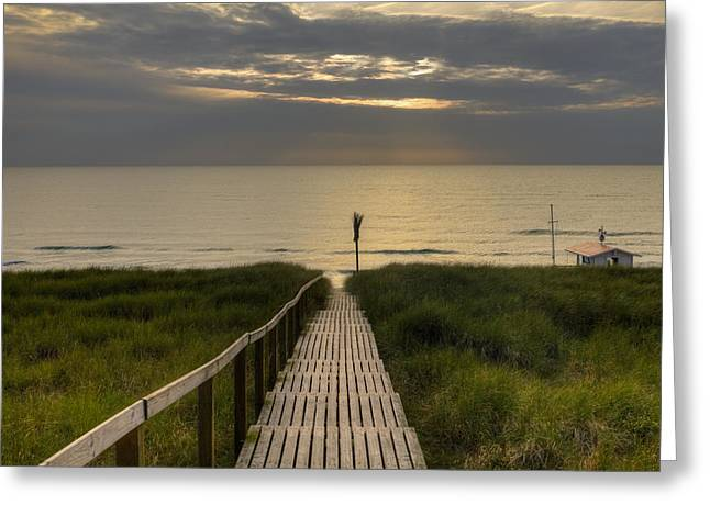 Boardwalk Greeting Cards - Sylt Greeting Card by Joana Kruse