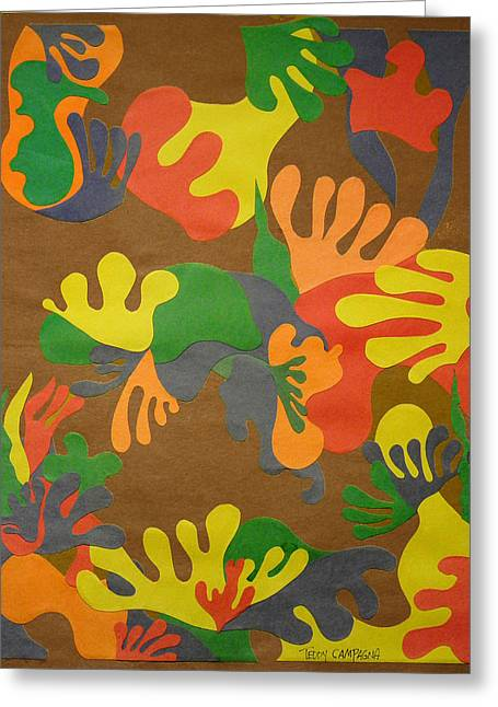 Fruits Tapestries - Textiles Greeting Cards - Untitled Greeting Card by Teddy Campagna