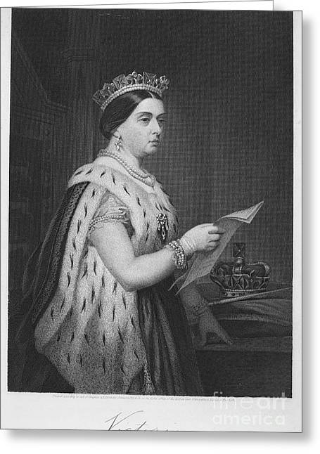 Autograph Greeting Cards - Victoria Of England Greeting Card by Granger