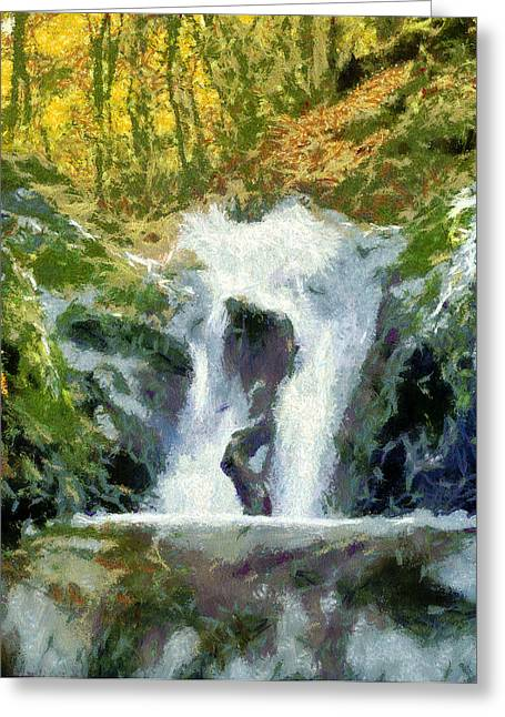 Banyue Greeting Cards - Waterfall Greeting Card by Odon Czintos