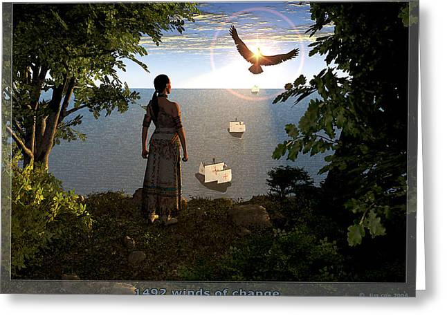 Purchase Digital Art Greeting Cards - 1492 - Winds of Change Greeting Card by Jim Coe