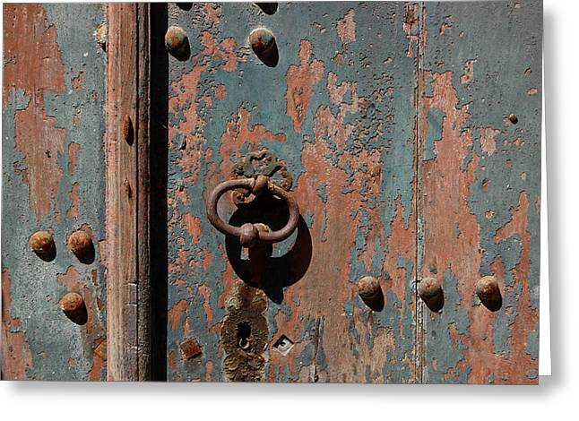 French Doors Greeting Cards - 14th Century Door in France Greeting Card by Marion McCristall
